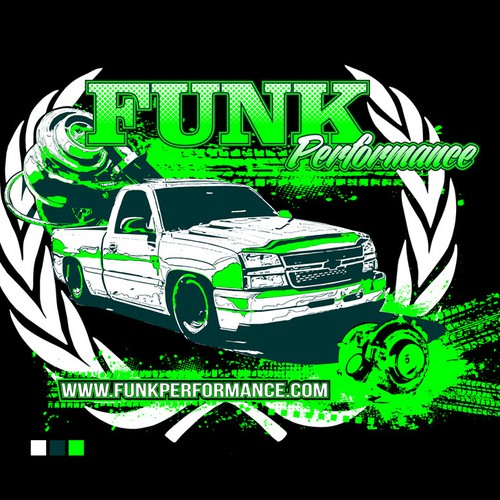 Create an Aggresive, Performance Oriented Design for a GM Truck & SUV Street/Drag Race Shop