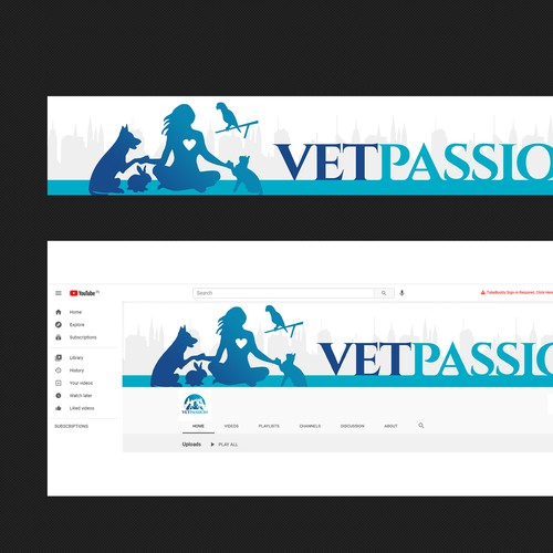 YouTube cover page design
