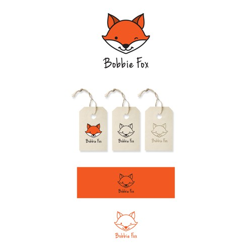 Create the face of Bobbie Fox, the character and logo of a new childrenswear label.