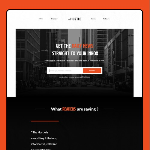 Redesign Landing Page