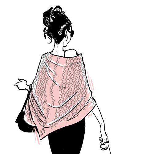 Fashion elegant drawing