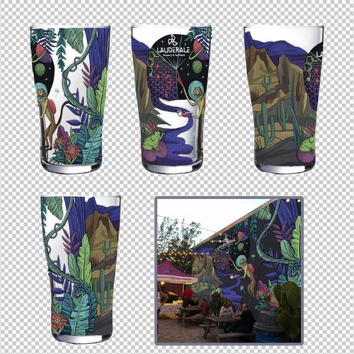 design for beer glasses