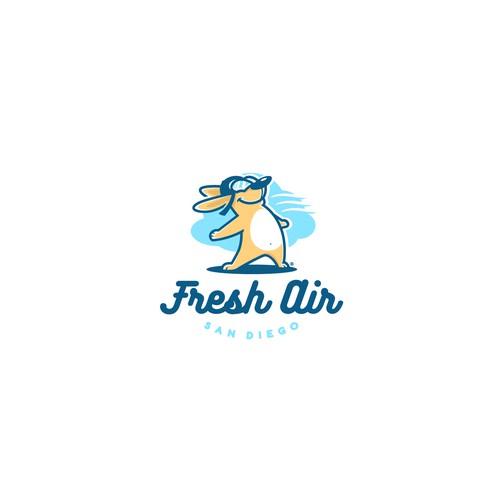 Fresh Air concept logo design.