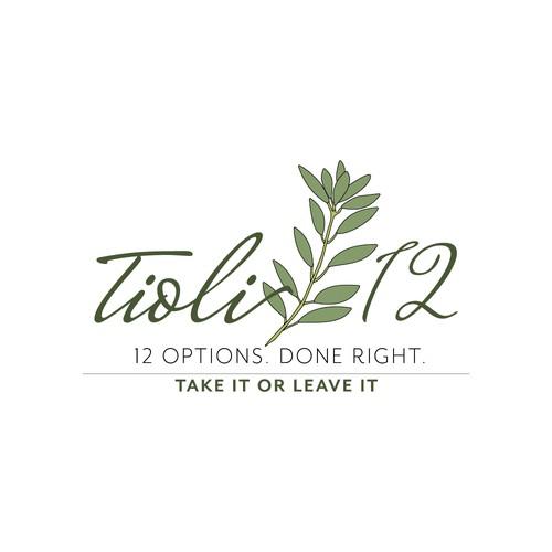 An organic and feminine logo design for a causal restaurant.