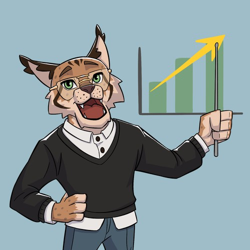 Lynx themed Finance Mascot