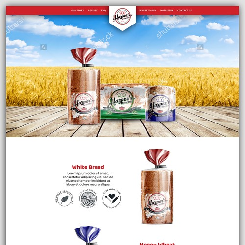 Bread Company seeks Modern and Eye Appealing Website Redesign