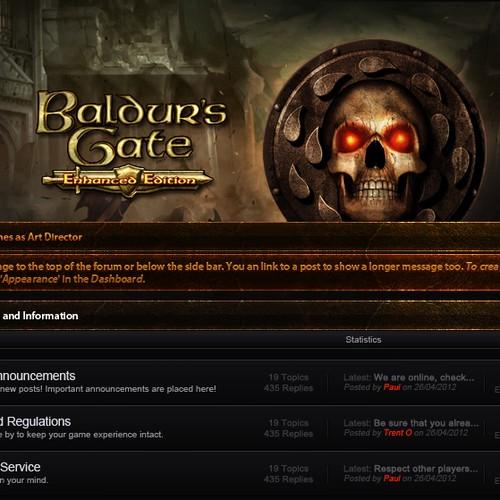 Baldur's Gate forum layout