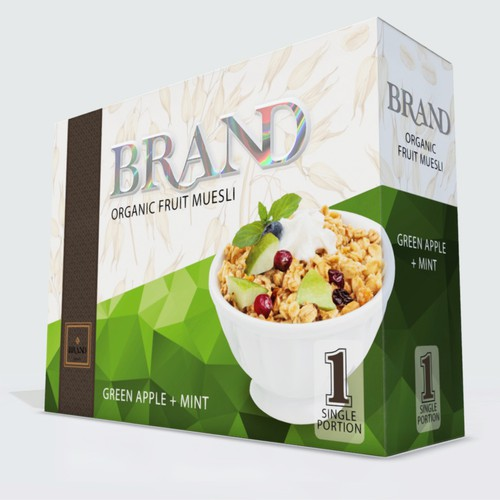 Real Time 3d Cereal Box