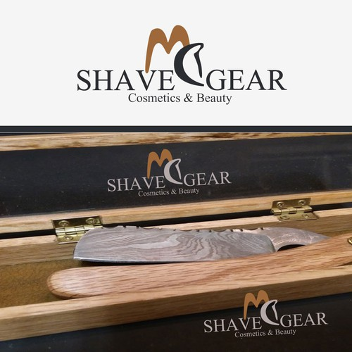 MC SHAVE GEAR LOGO AND MOCK UP