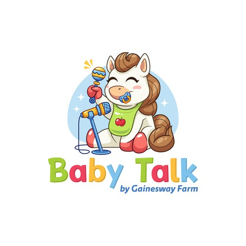 Logo for podcast specifically talking about horses