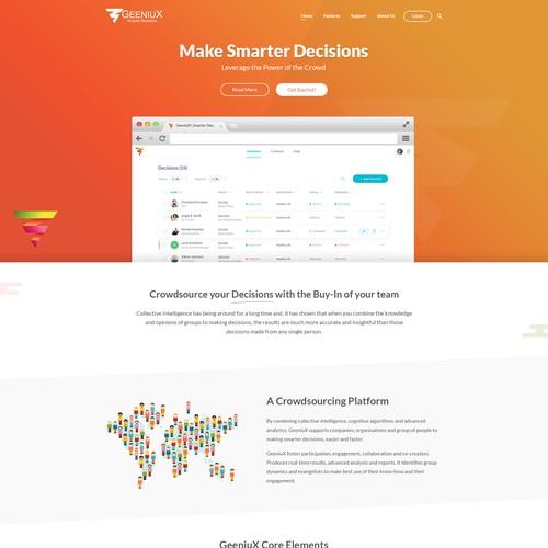 Website design for Crowdsourcing Platform