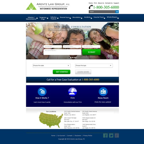 Create a Home Page to allow consumers to seek compensation from Greedy phrama companies