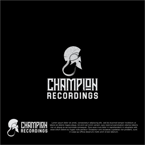 logo concept for champion recordings