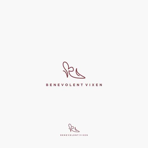 """Unique monoline style logo concept for brand shoes """"Benevolent Vixen"""""""