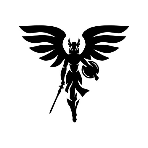 valkyrie logo for sigrun mascot