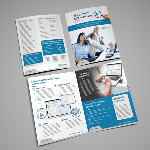 Magnify Call Accounting Brochure design