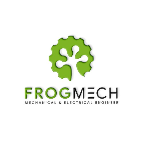Design a modern logo incorporating a Frog for a mechanical & electrical engineer