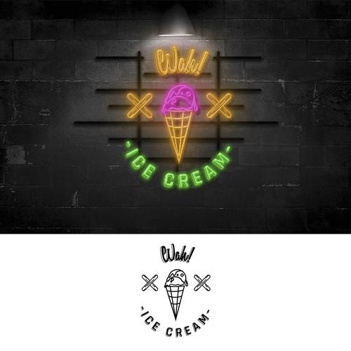 Playful icecream company logo