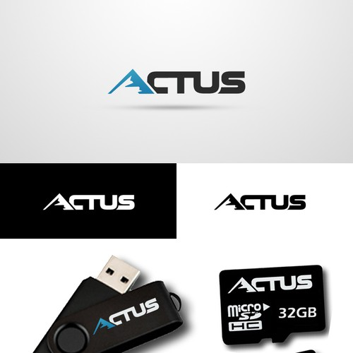 Actus Memory logo for a world class flash manufacturing firm in Taiwan