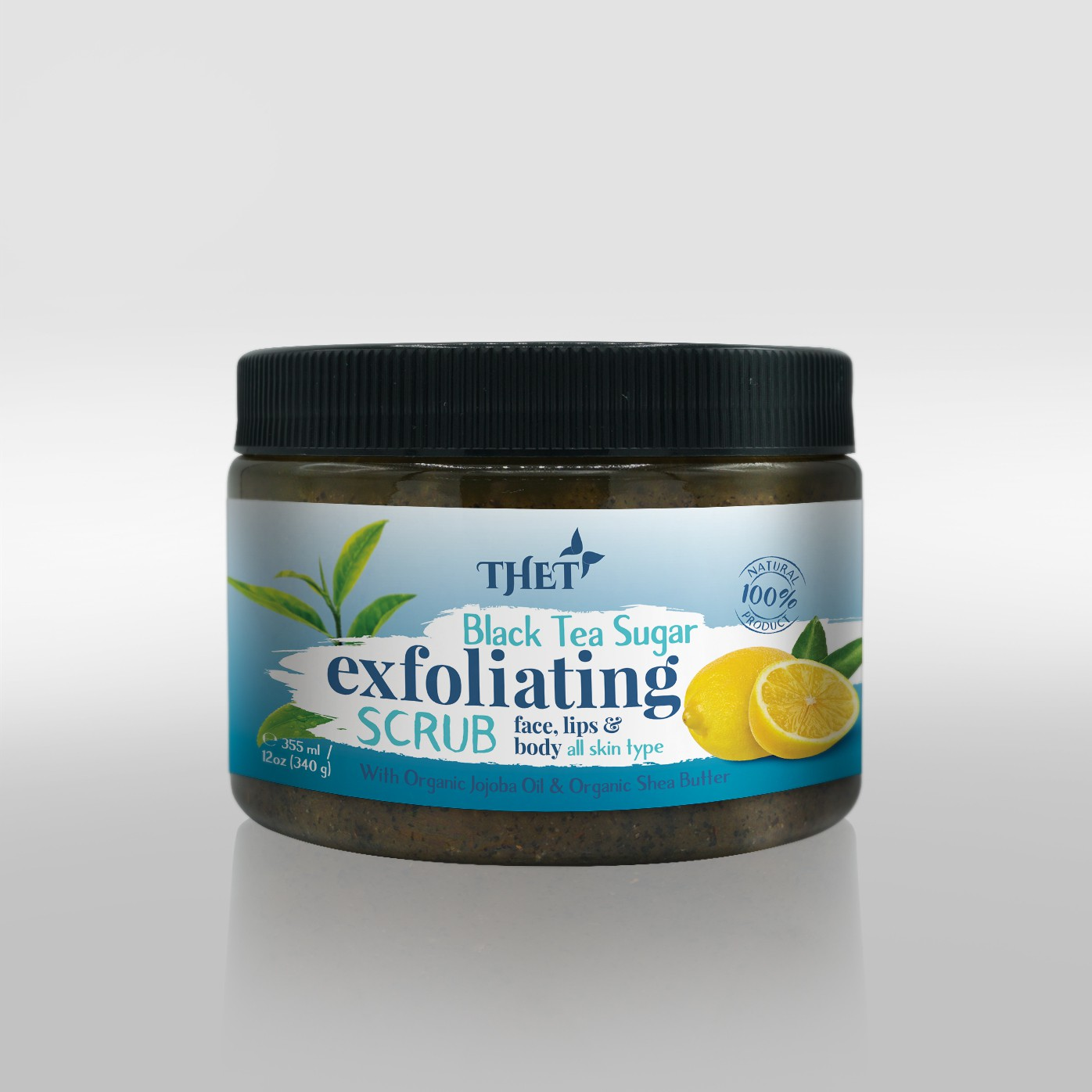 Design a charming label with a pop of color for an all natural face, lips, and body scrub