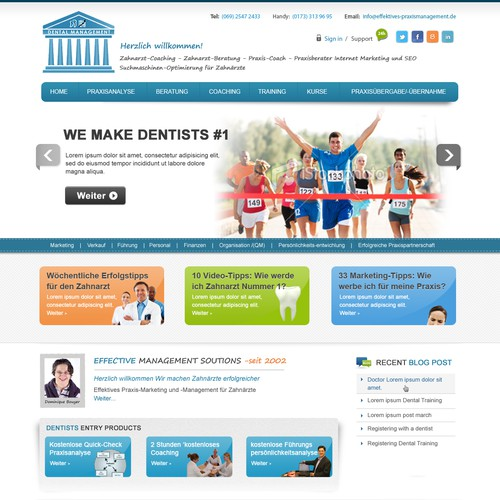 website design für EFFECTIVE MANAGEMENT SOLUTIONS