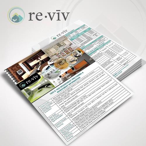 re.viv flyer design