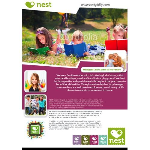 "Universal Ad for hip urban family community center ""nest"""