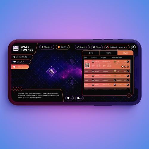 Game design for a spaceship game
