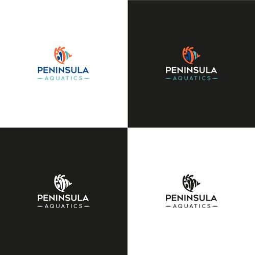 Design an aquatic logo for Aquarium Cleaning service