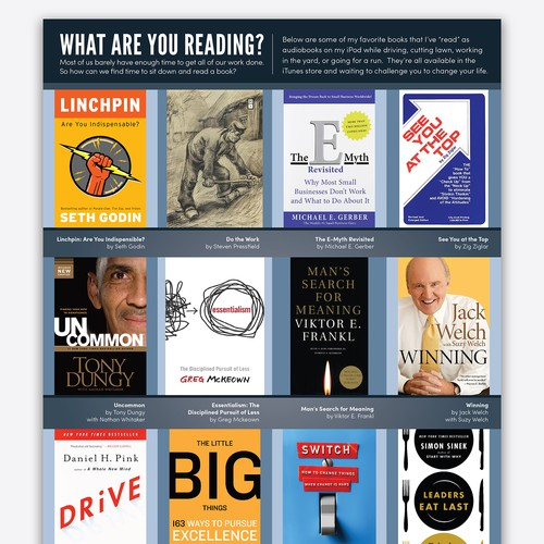 Design a *Recommended Reading* List!
