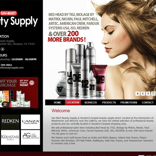 Beauty Supply Website redesign