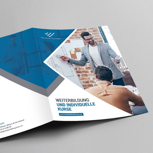 Brochure design for education plus GmbH