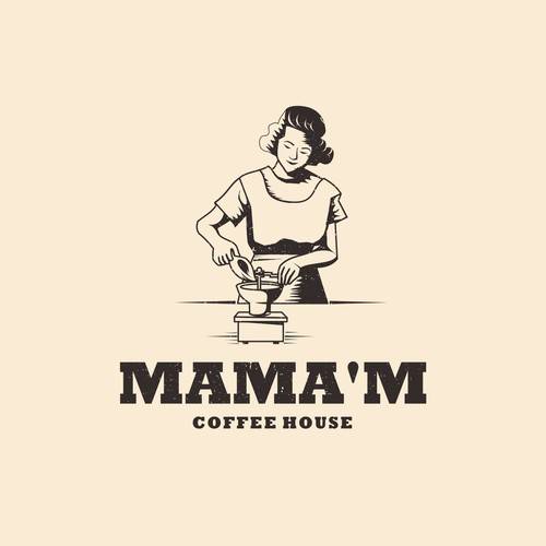 Logo design concept for mama'm