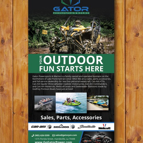 Creating a branding ad for Gator Powersports and Marine