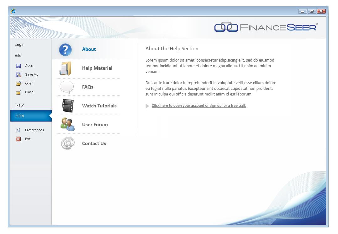 Help FinanceSeer LLC with a new app design