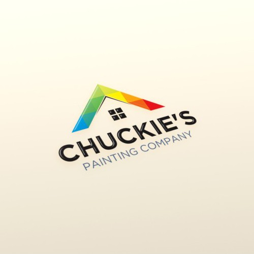 Design a logo with the skillful use of colors for Chuckie's Painting Company