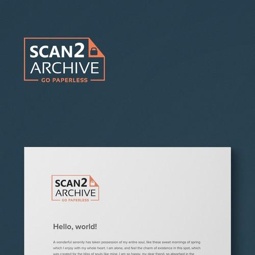 Archieving business logo design, compact, simple but elegant.