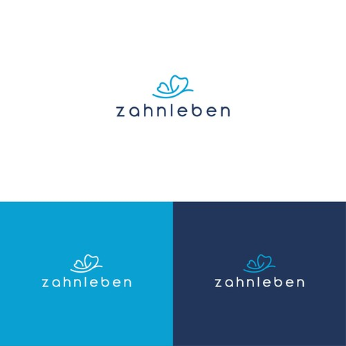 Logo concept for Zahnleben, a dental practice.