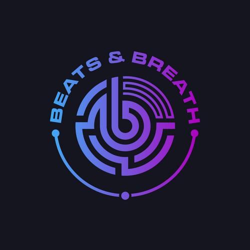 Modern logo for transformational breathwork, meditation platform.