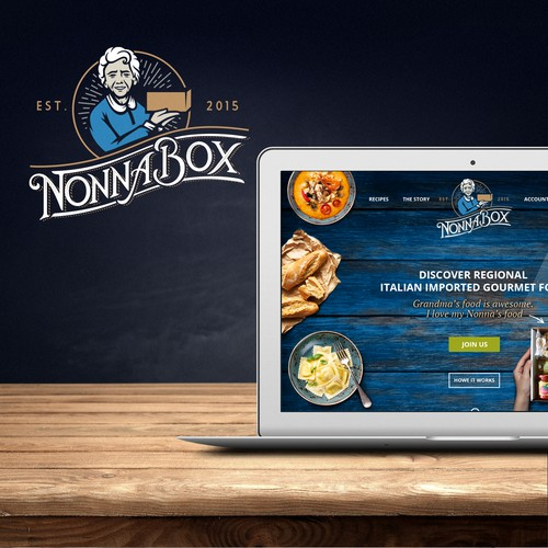 NonnaBox Logo + WebDesign