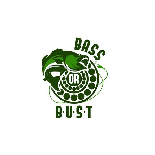 logo concept bass bust