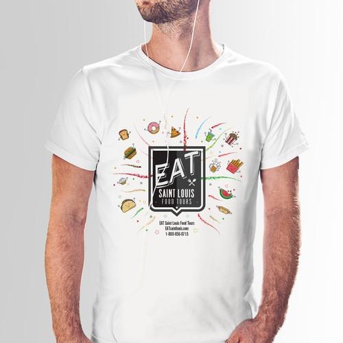 St. Louis's food tour T-shirt design