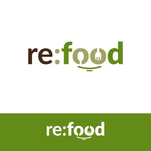 negative space logo for nonprofit food saving initiative