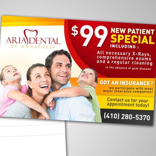 Postcard Design for Aria Dental of Annapolis
