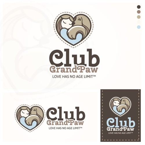 Logo concept for a senior pet adoption program