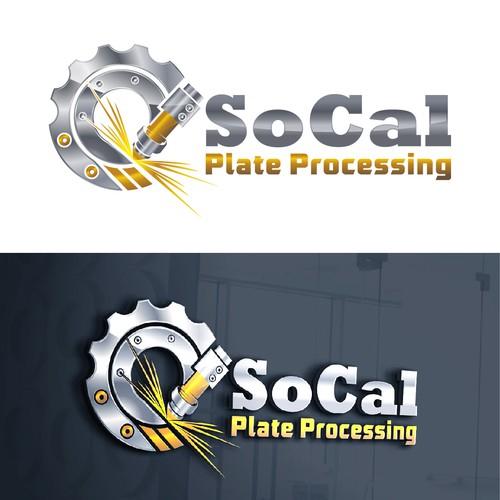 large plate processing machine