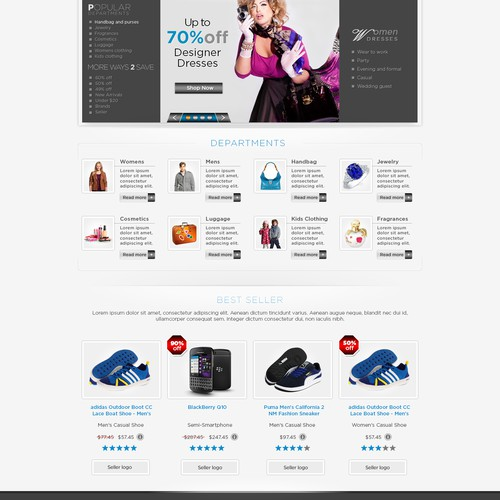 Website design contest for e-commerce shop (Monetizer AG)