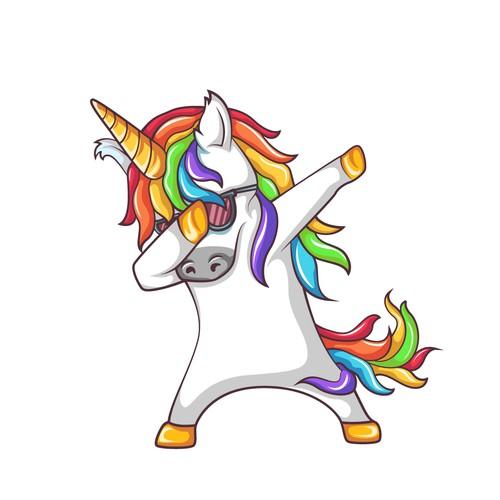 """Dabbing"" Unicorn Character"