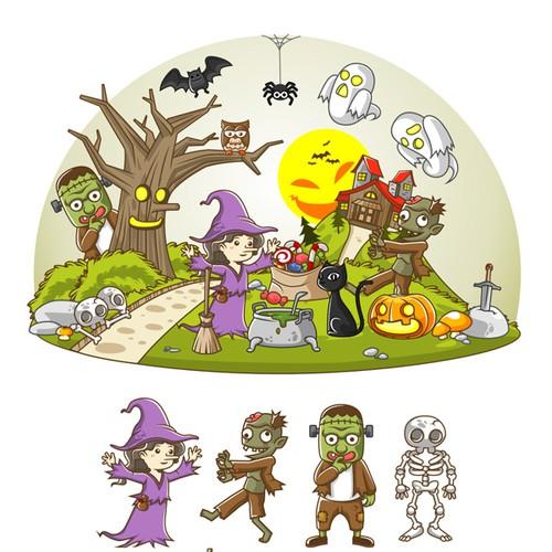 Halloween illustrations for Funsational