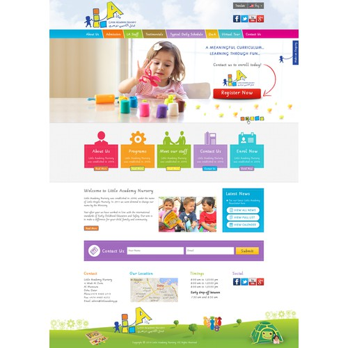 Childcare Nursery needs help with design for new Wordpress site